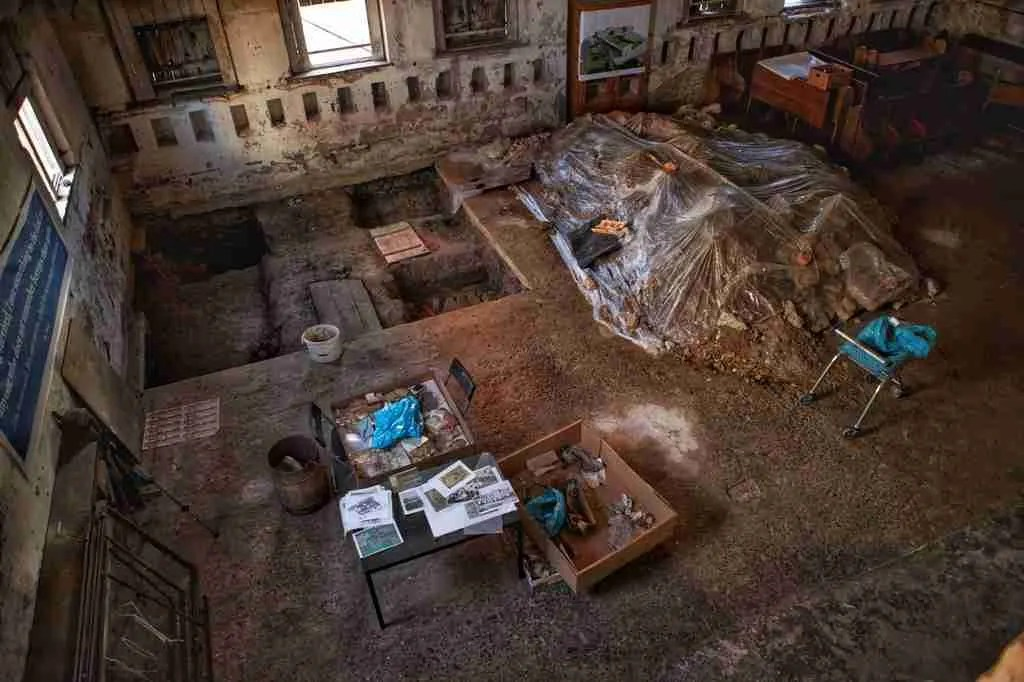Excavations in Bardejov Synagogue