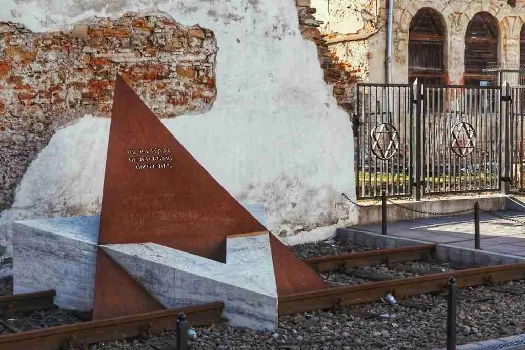 Train Tracks Holocaust Memorial in Bardejov