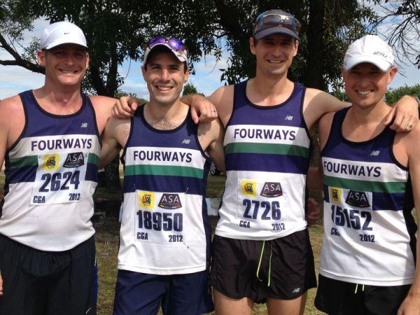 Mielie Marathon - the Fourways boys at the finish