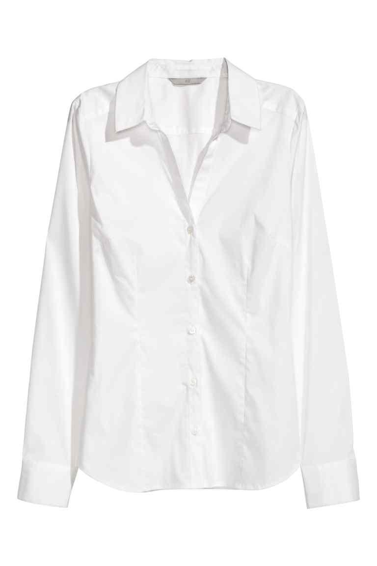 Chemise à encolure en V - h&m