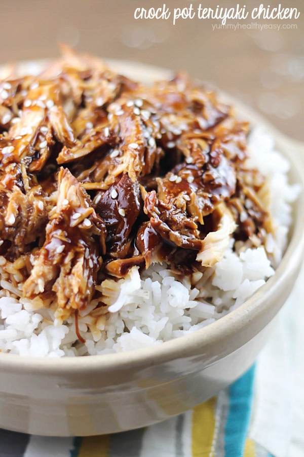 Crock Pot Teriyaki Chicken is an easy slow cooker dinner that will quickly become a family favorite!