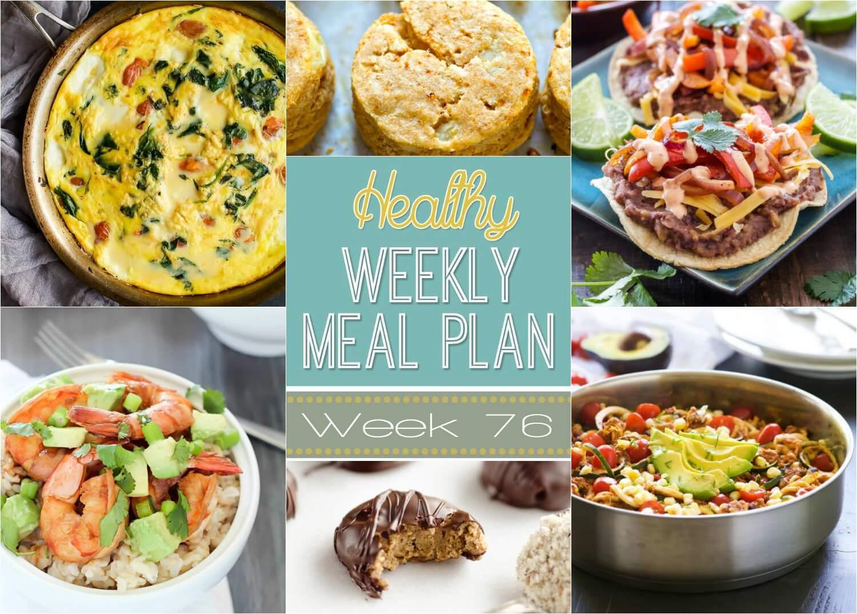 Healthy Meal Plan Week 76