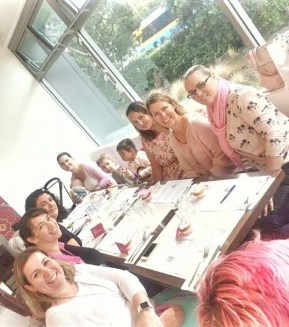 pink ribbon breakfast with the foxes school mums