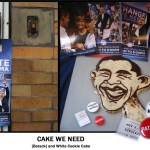 Barack and White Cookie Cake