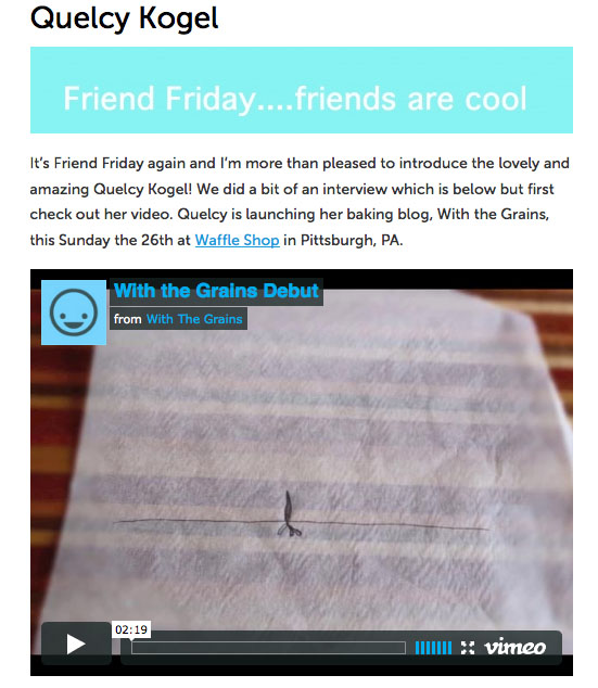 Friend Friday…friends are cool!