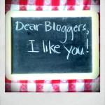 Dear Blogosphere