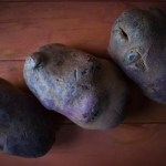 Preparing A Dinner For Purple Lips:  Garlic Mashed Purple Potatoes