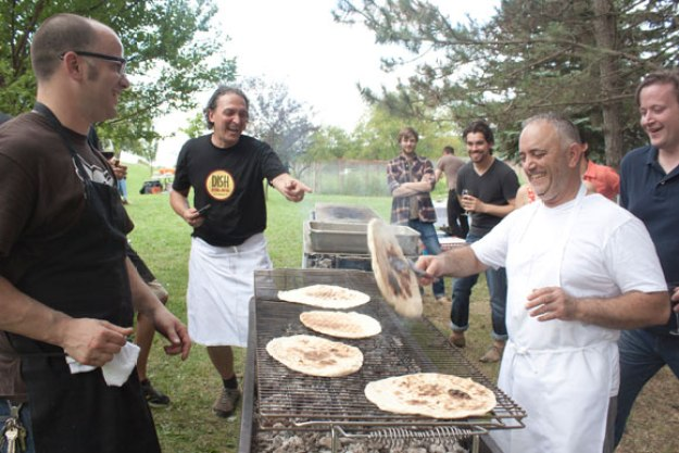 Italian BBQ On The Farm with Pittsburgh's Best Italian Chefs // www.WithTheGrains.com