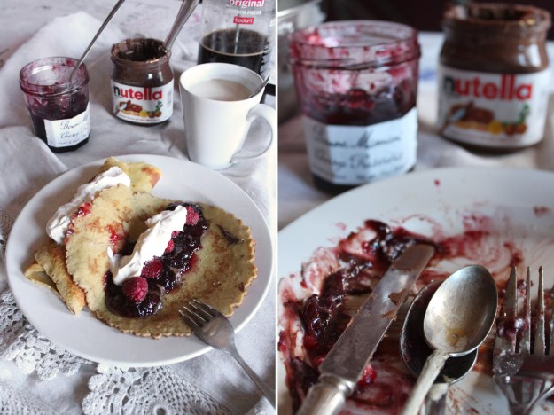Crepes and Nutella Mess