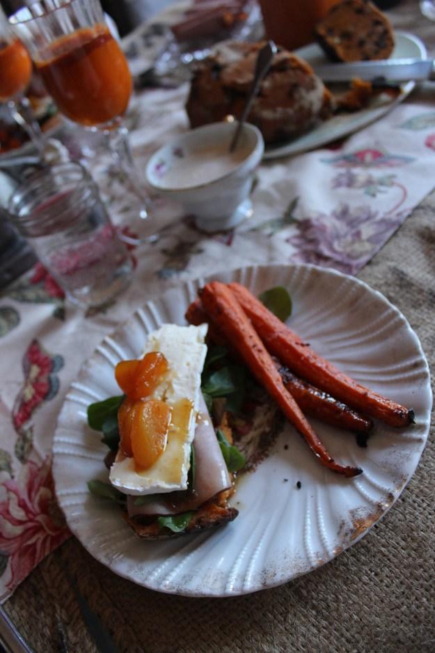 Open Face Sandwich Easter Plate