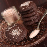 Double Chocolate Cookies with Pink Himalayan Sea Salt