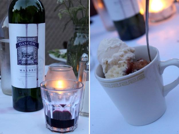 Wine Drops and Dessert