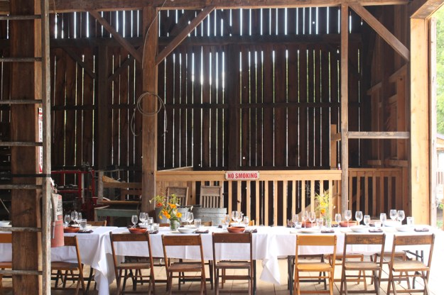 Barn and Table