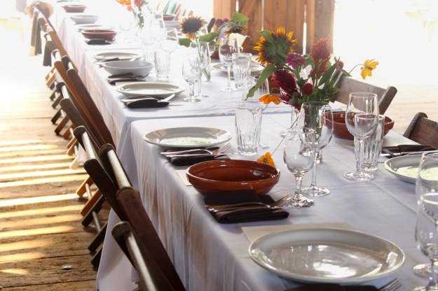 Barn Table Setting