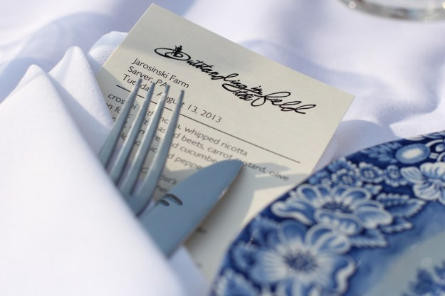 Menu and Placesetting