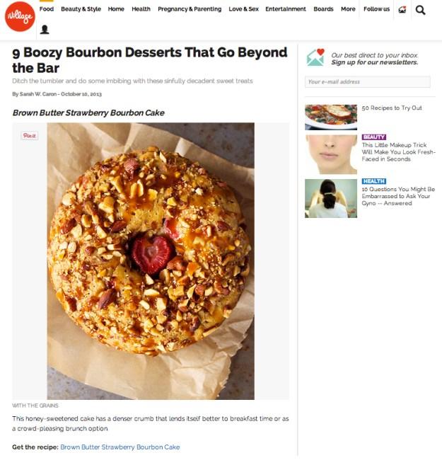 iVillage Bourbon Brown Butter Cake