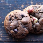 Double Chocolate Cookies with Orange, Cranberry & Hazelnuts