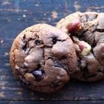 Double Chocolate Cookies with Orange, Cranberry & Hazelnuts