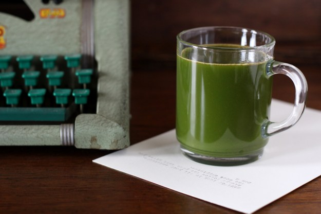 Typewriter and Green Juice