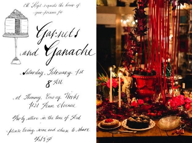 Garnets and Ganache Invite