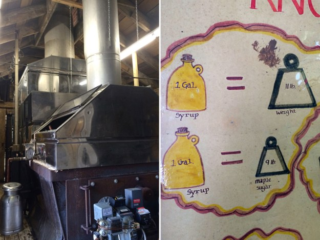 """The """"Sugar Shack"""" conveys why maple syrup costs so much money by explaining the process from tree to pancake. The aging, handmade graphics are not to be missed!"""