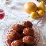 Whole Wheat Wine Jelly Muffins with Napa Wine Jelly Glaze