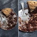 Vegan Chocolate Coconut Rum Cake