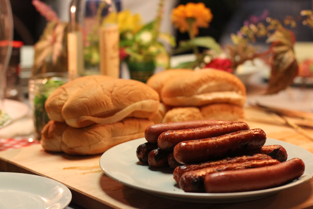 A Garden Hot Dog Party and Dessert Spread // www.WithTheGrains.com