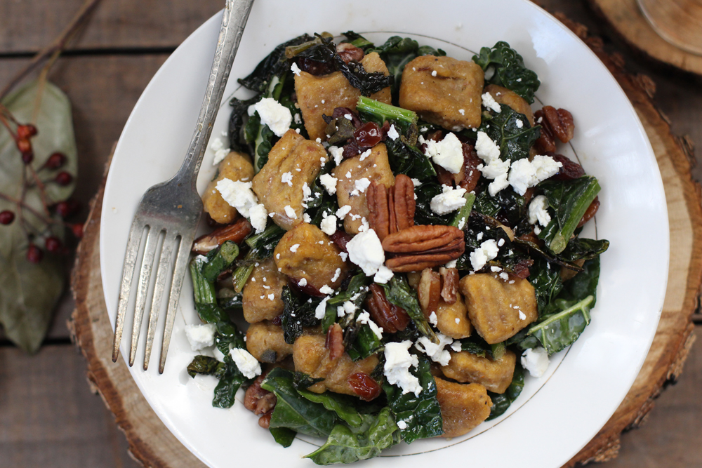 Whole Wheat Pumpkin Gnocchi // www.WithTheGrains.com