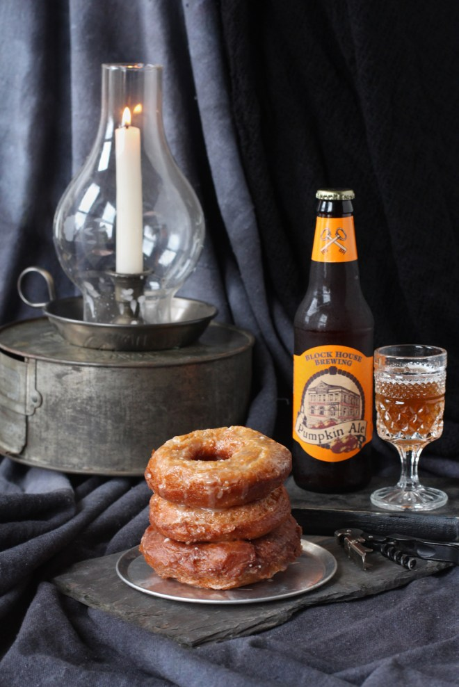 Pumpkin Ale and Donuts