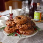 Donut o' the Month for JoJoTastic: Whole Wheat Cranberry Cake Donuts with Whiskey Cider Glaze