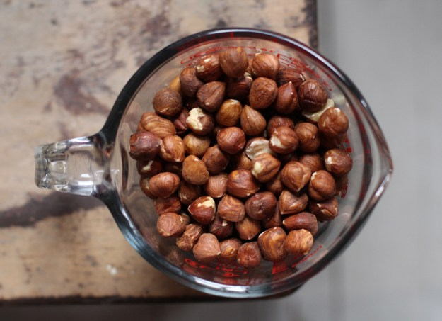 two cups hazelnuts
