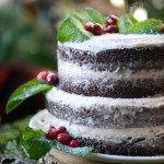 Whole Wheat Chocolate Gingerbread Layer Cake