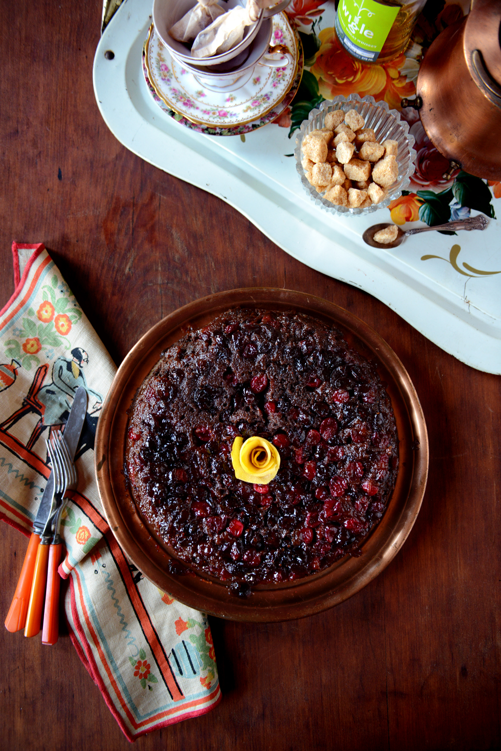 Cranberry Upside Down Cake // www.WithTheGrains.com