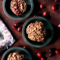 Whole Wheat Cranberry Gingerbread Muffins
