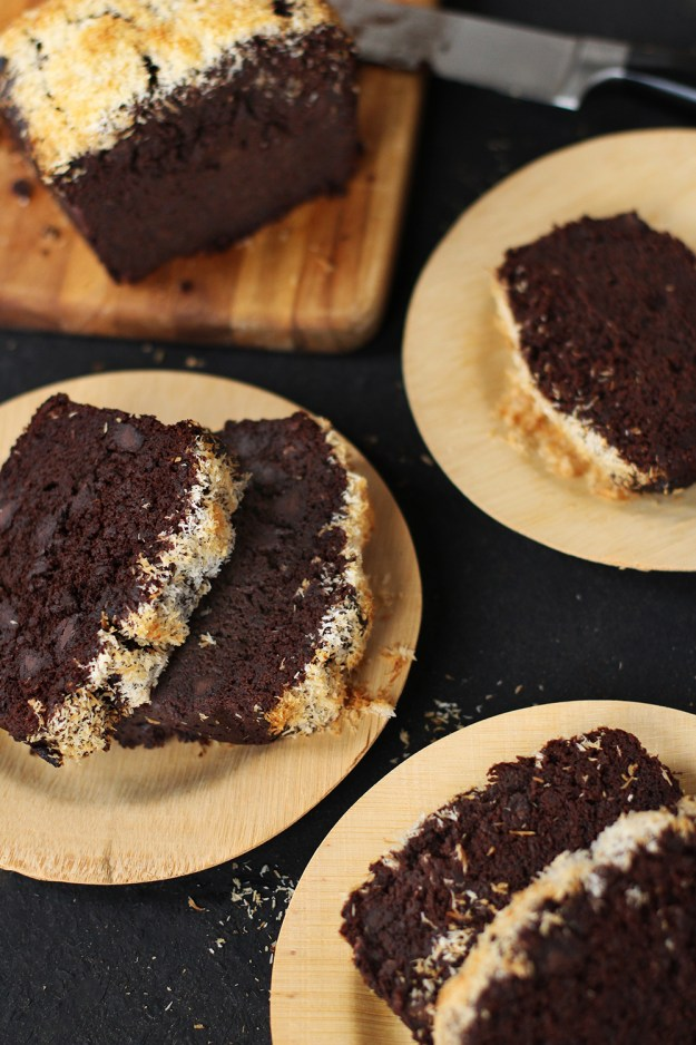 Whole Wheat Chocolate Coconut Banana Bread by With The Grains