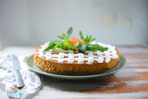 Roasted Carrot Cheesecake  // www.WithTheGrains.com