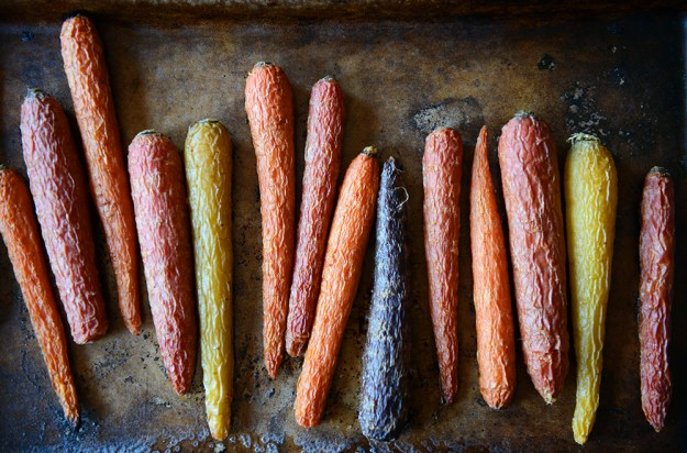 Roasted Rainbow Carrots // www.WithTheGrains.com