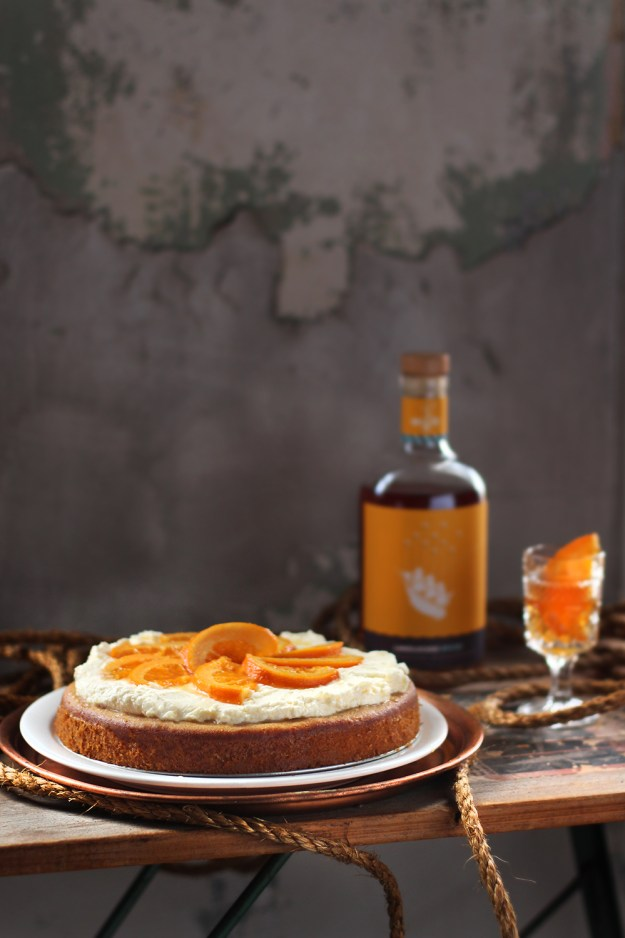 Whole Wheat Orange Honey Cake with @WigleWhiskey Landlocked Spiced // www.WithTheGrains.com