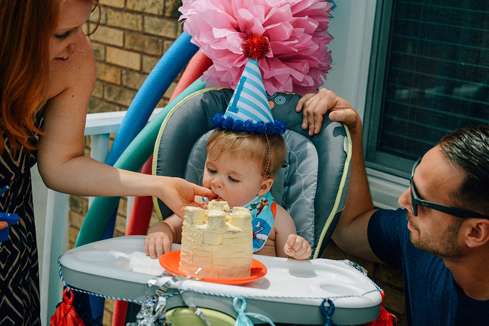A Baby's First Birthday Cake // www.WithTheGrains.com