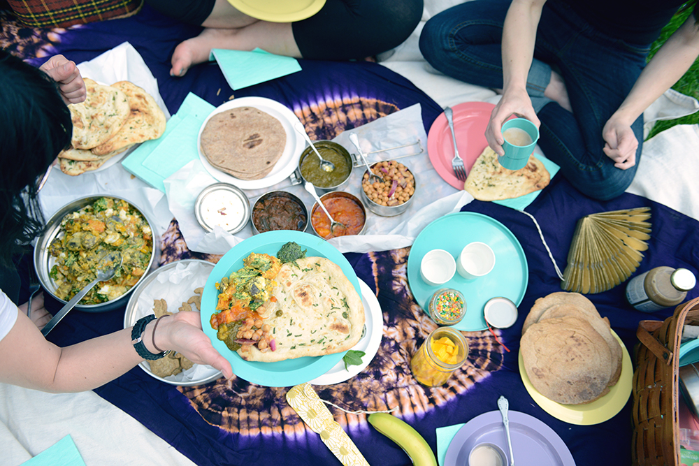 Indian Inspired Picnic // www.WithTheGrains.com