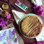 An Ode to Motherhood: Whole Wheat Rhubarb Upside Down Cake & Rhubarb Compote