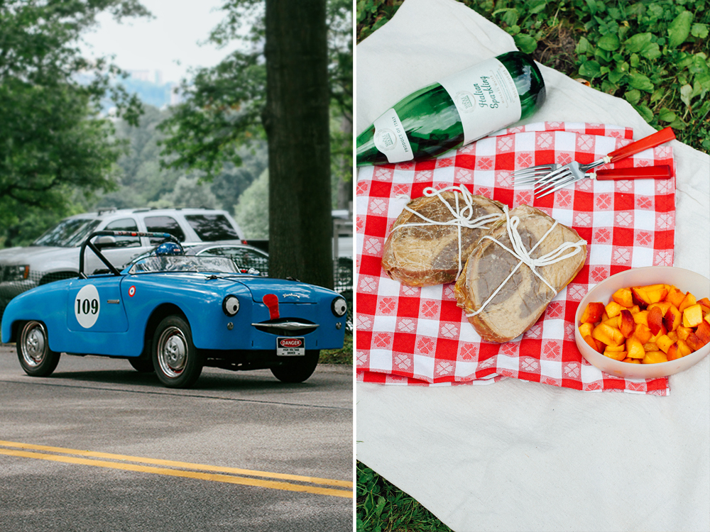 Egg Salad Sandwiches for a Picnic at a Vintage Car Show // www.WithTheGrains.com