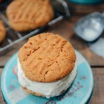 Sprouted Spelt Peanut Butter Cookies for Ice Cream Sandwiches