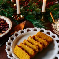 Butternut Squash Polenta w/ Stewed Fruit & Whipped Mascarpone for a Wintry Brunch