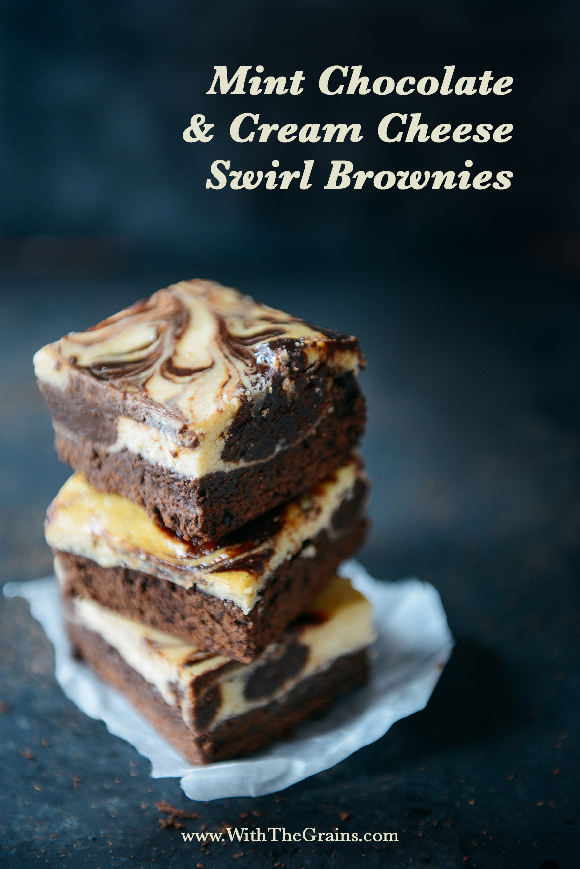 Self Filled Brownie Bars // www.WithTheGrains.com