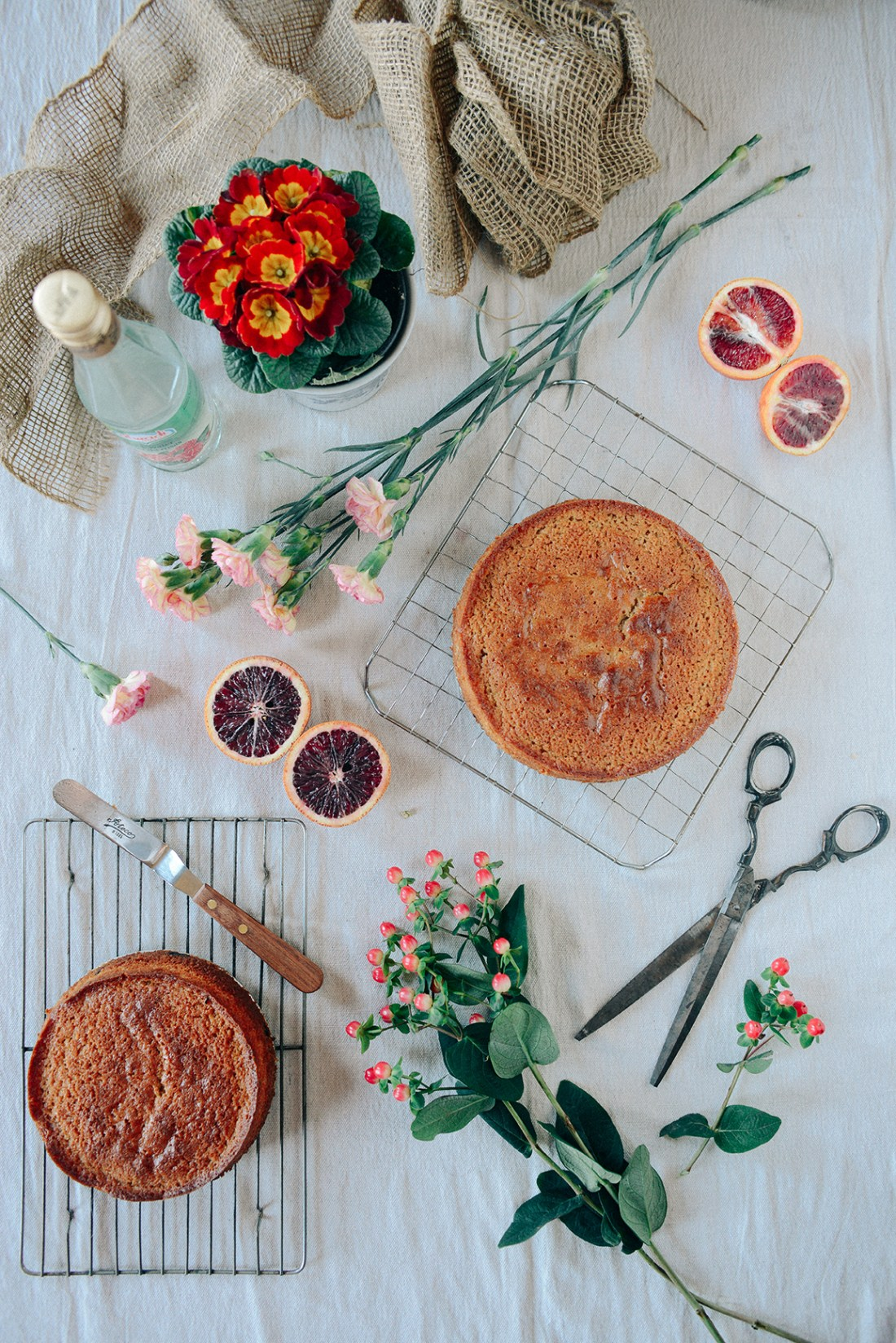 Whole Grain Blood Orange Rose Water Cake // www.WIthTheGrains.com