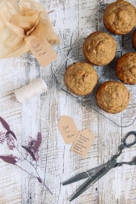 Whole Grain Banana Turmeric Muffins // www.WithTheGrains.com