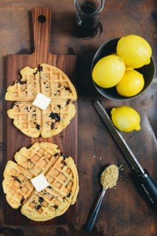 Lemon Blueberry Quinoa Waffles by With The Grains 01