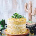A Desert-Inspired Lemon Ginger Turmeric Layer Cake
